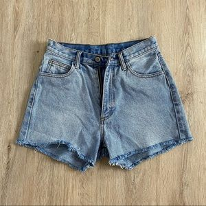 PacSun High Waisted Denim Shorts **fit like S/M**